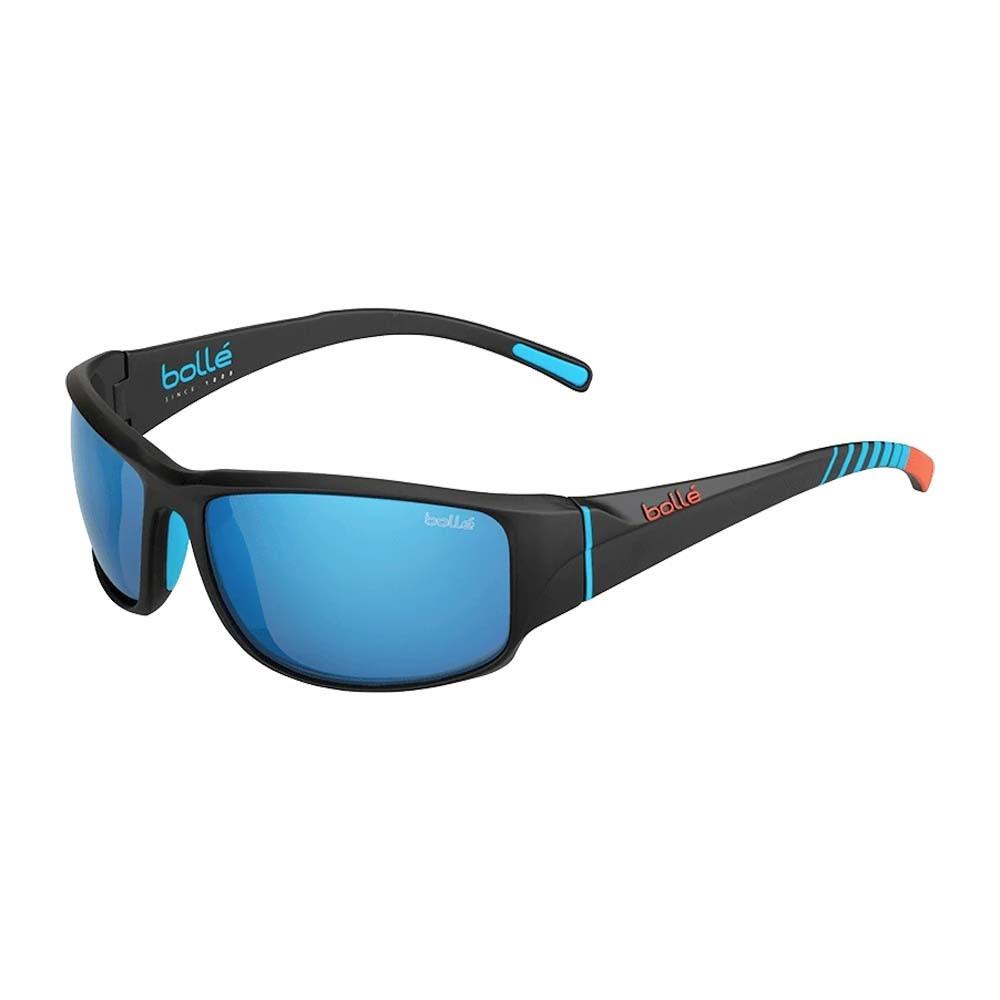 Keelback Matte Black Bahamas-Polarized Offshore Blue oleo AR Sunglasses