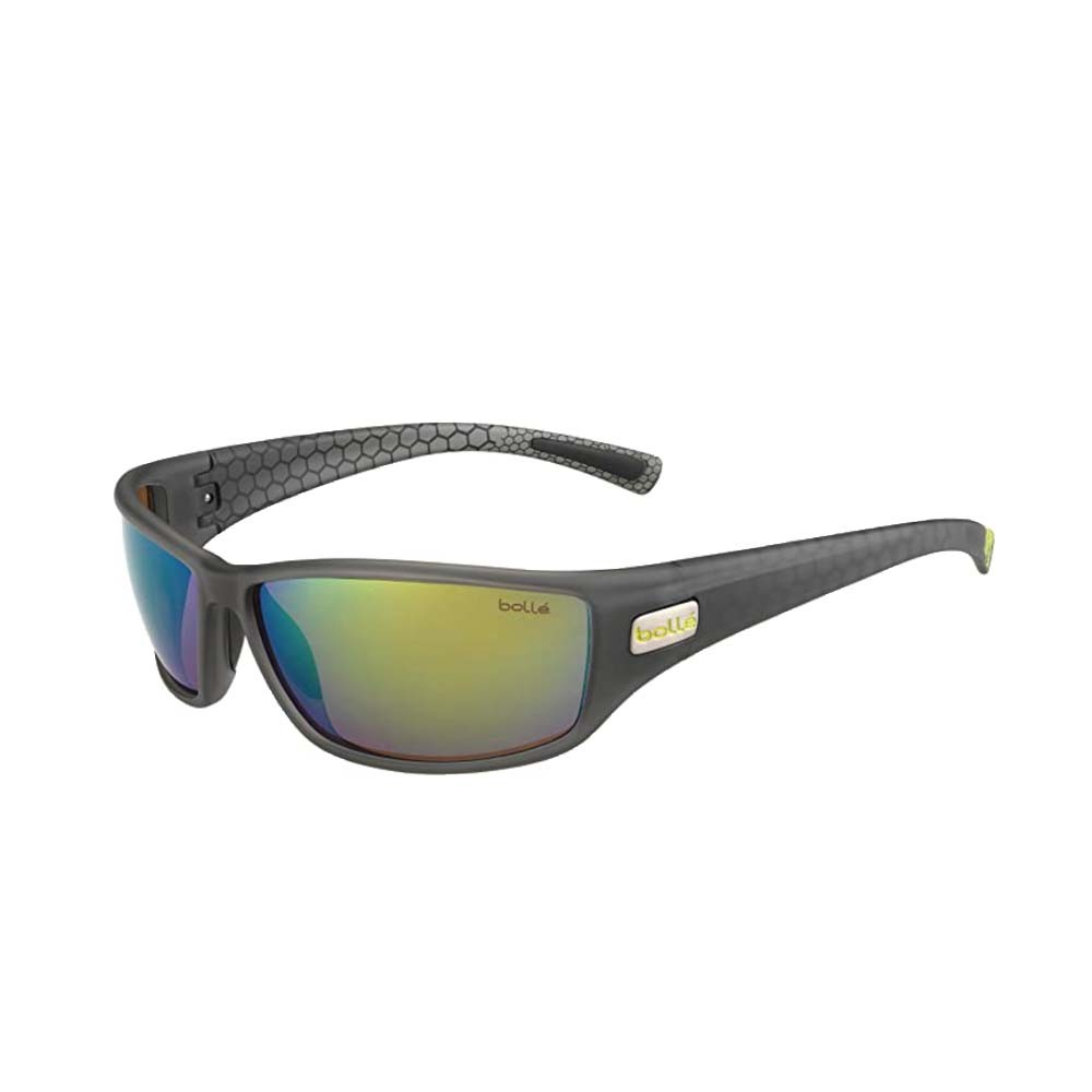 Python Matte Smoke/Green - Polarized Brown Emerald oleo AF Sunglasses