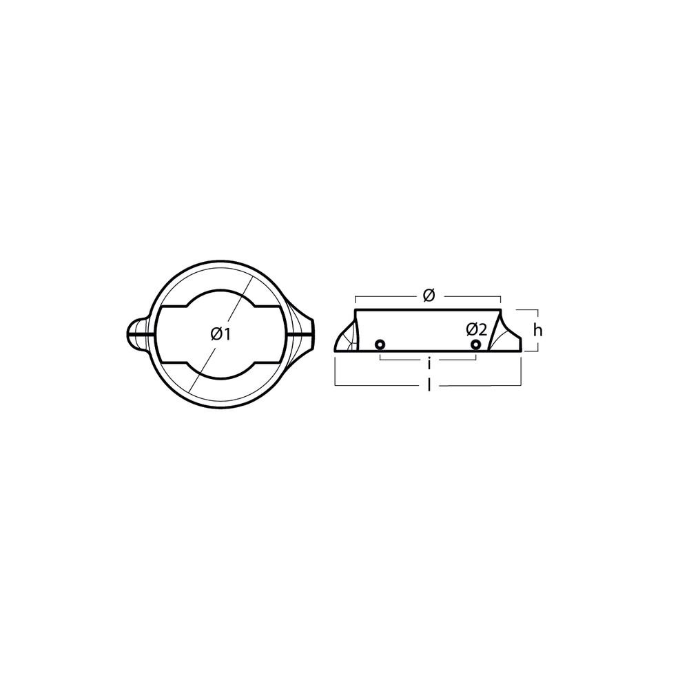 Volvo Split Collar - Magnesium