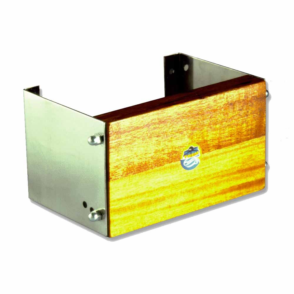 Fixed Stainless Steel & Wood Outboard Motor Bracket