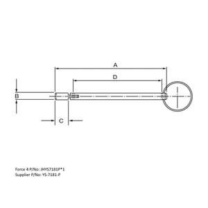 Drop Nose Pin Aluminium 115mm