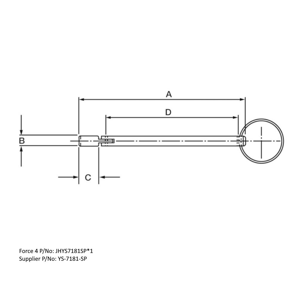 Drop Nose Pin Aluminium 90mm