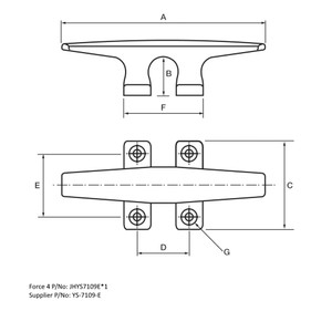 DECK CLEAT 362mm