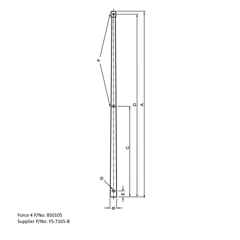 Tapered Stanchion 635mm