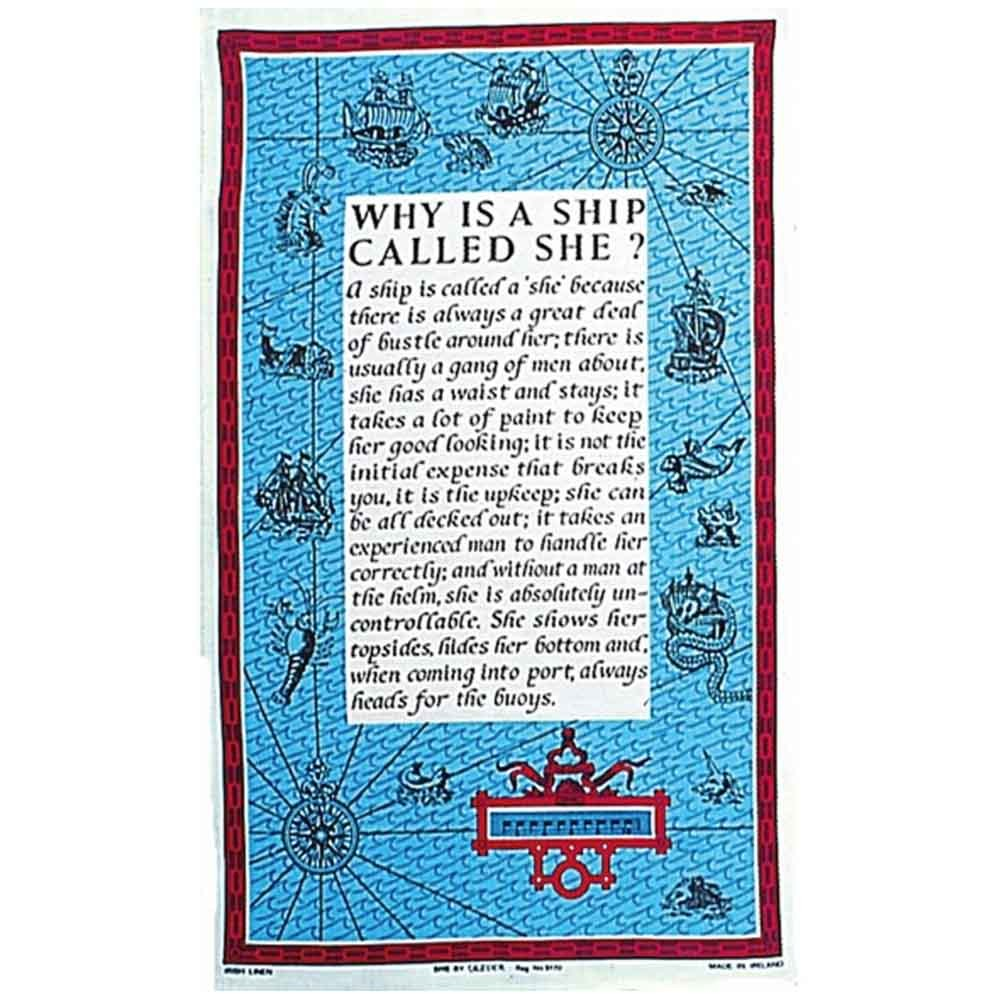 Galley Cloth - Why is a Ship Called She