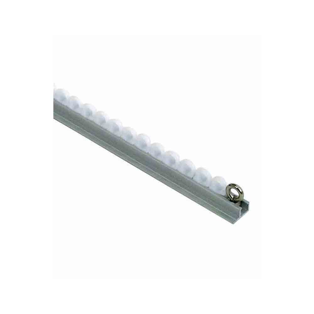 Silent Gliss Curtain Rail - Face Fixing Silver