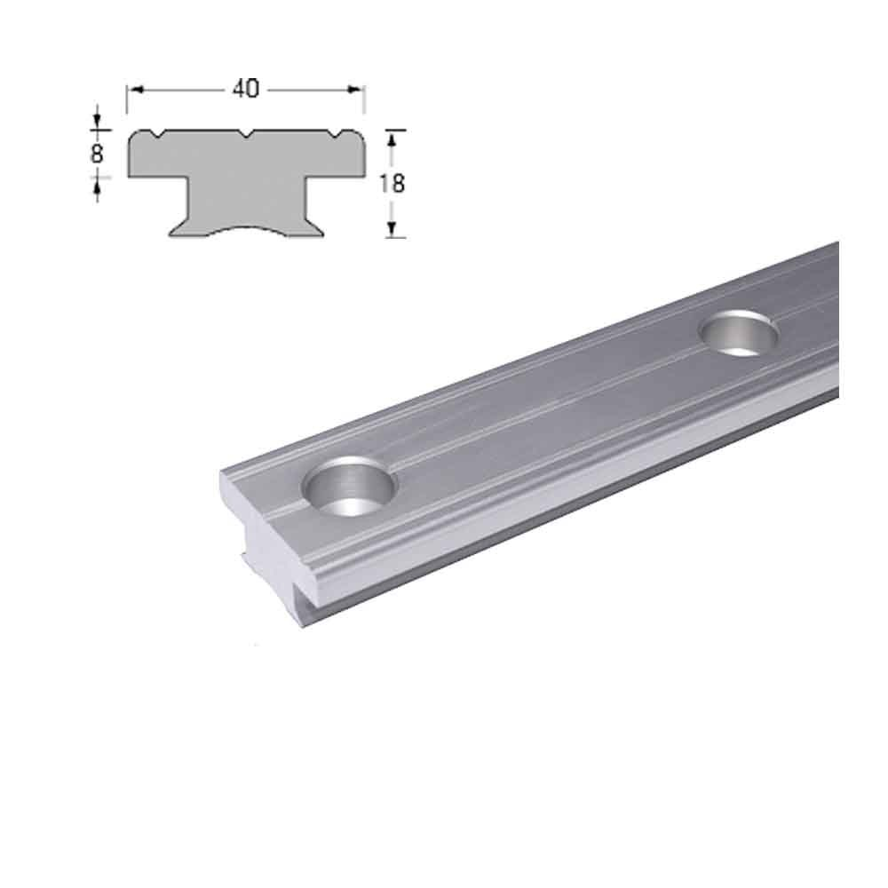 T-Track 40x8 (Silver) 100mm centres