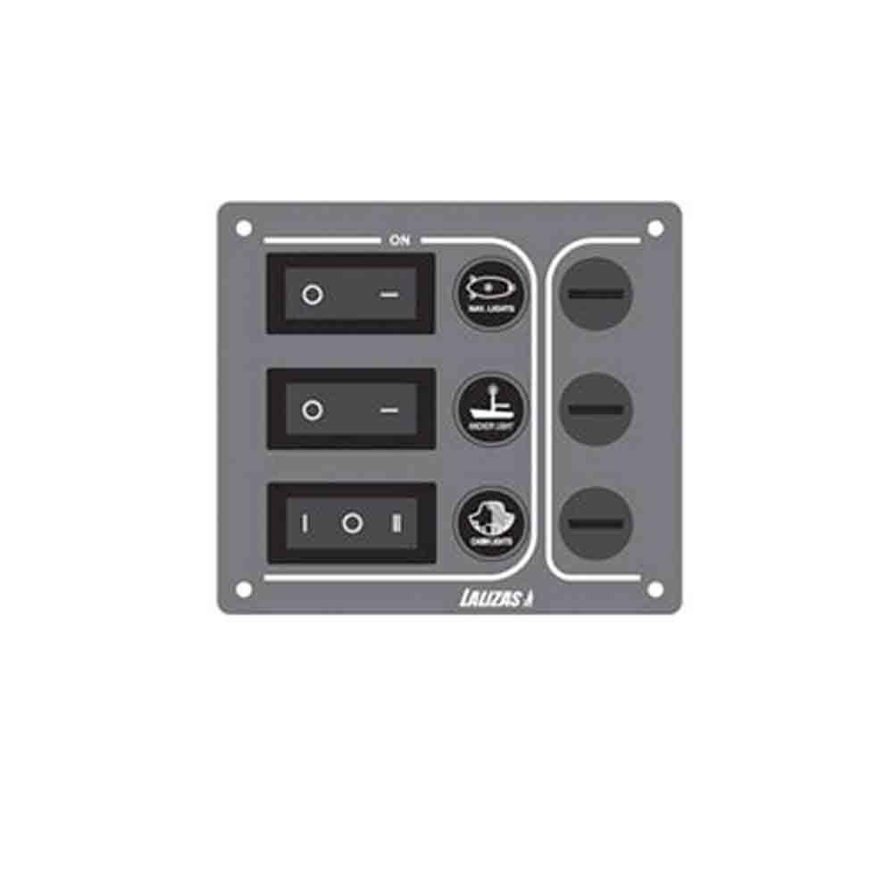 Waterproof Switch Panel - 3 Switch