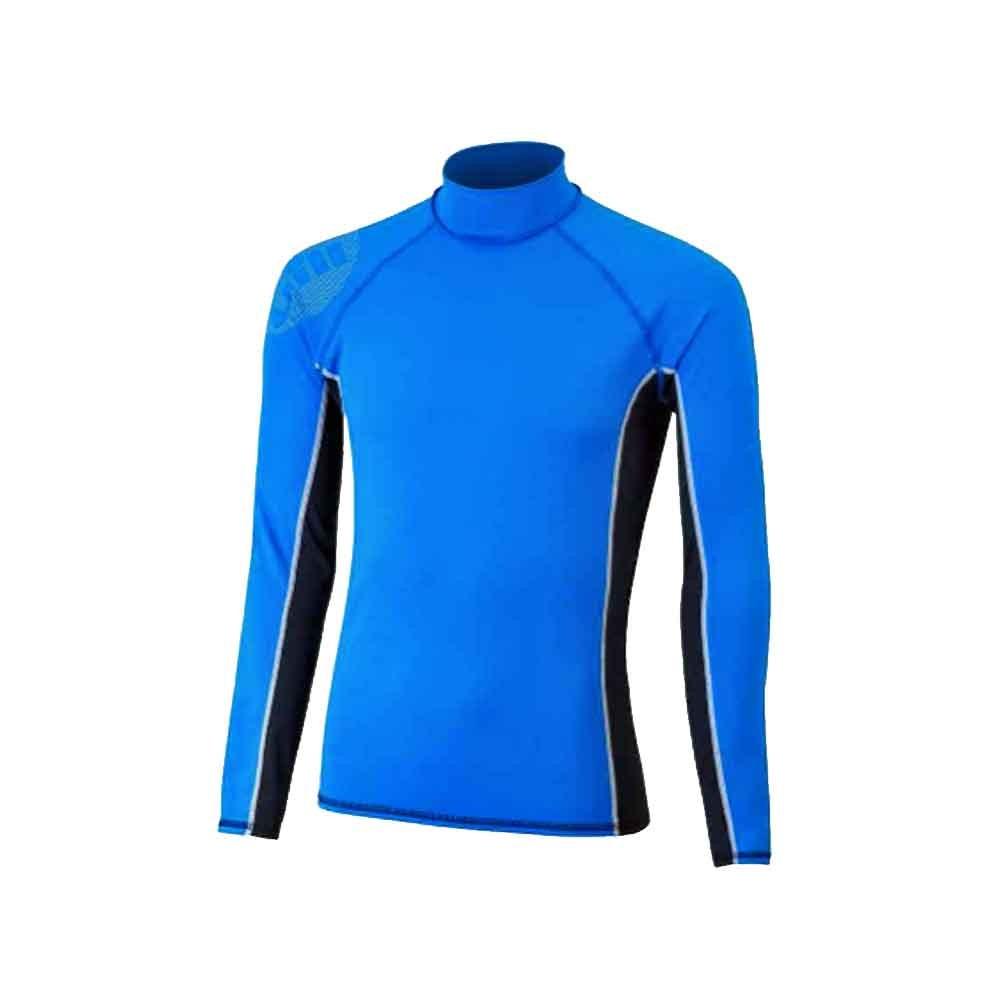 Men's Pro Rash Vest - Blue - Long Sleeve - Small