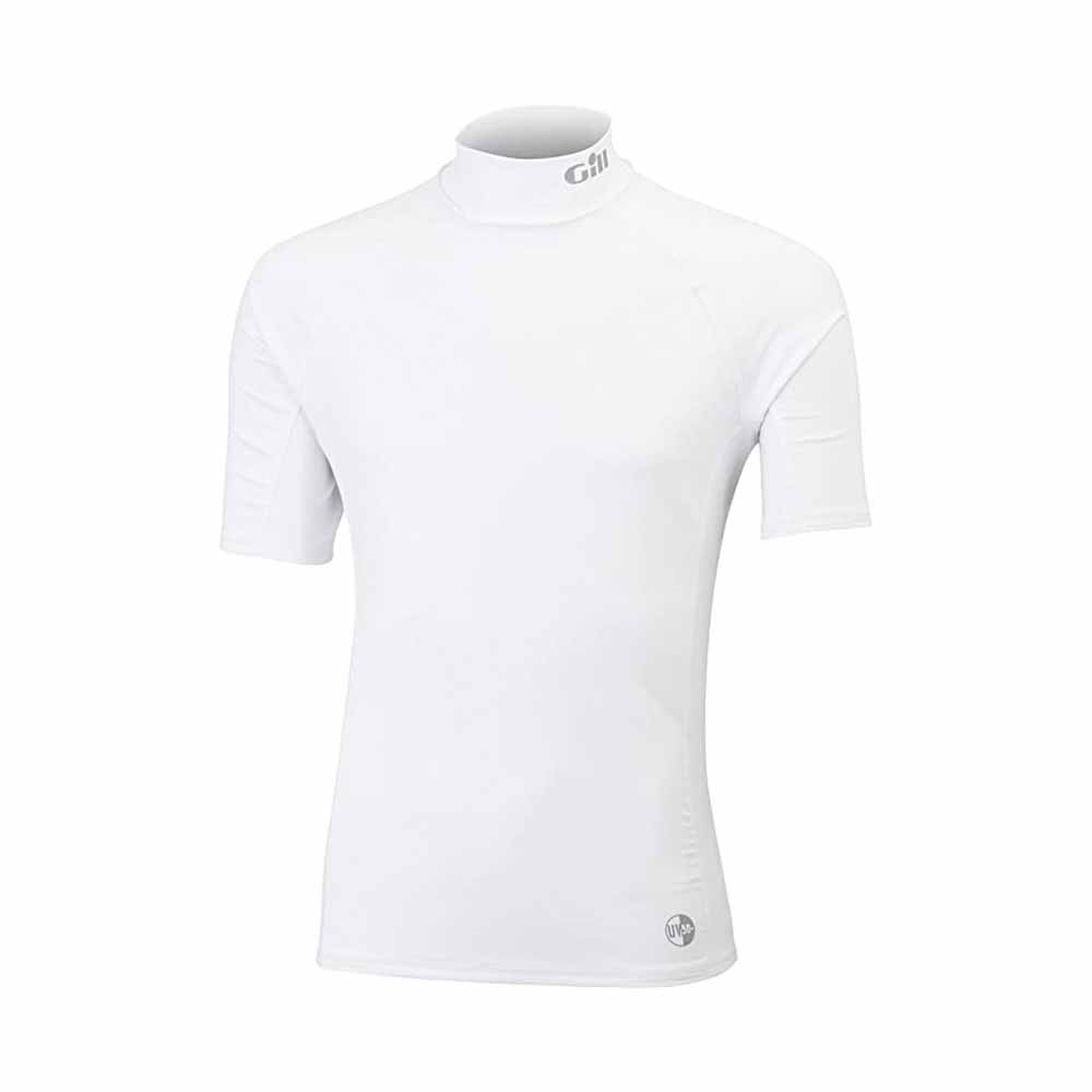 Rash Vest Short Sleeve White Medium