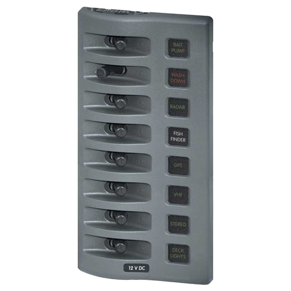 Weatherdeck Switch Panel 8way Grey