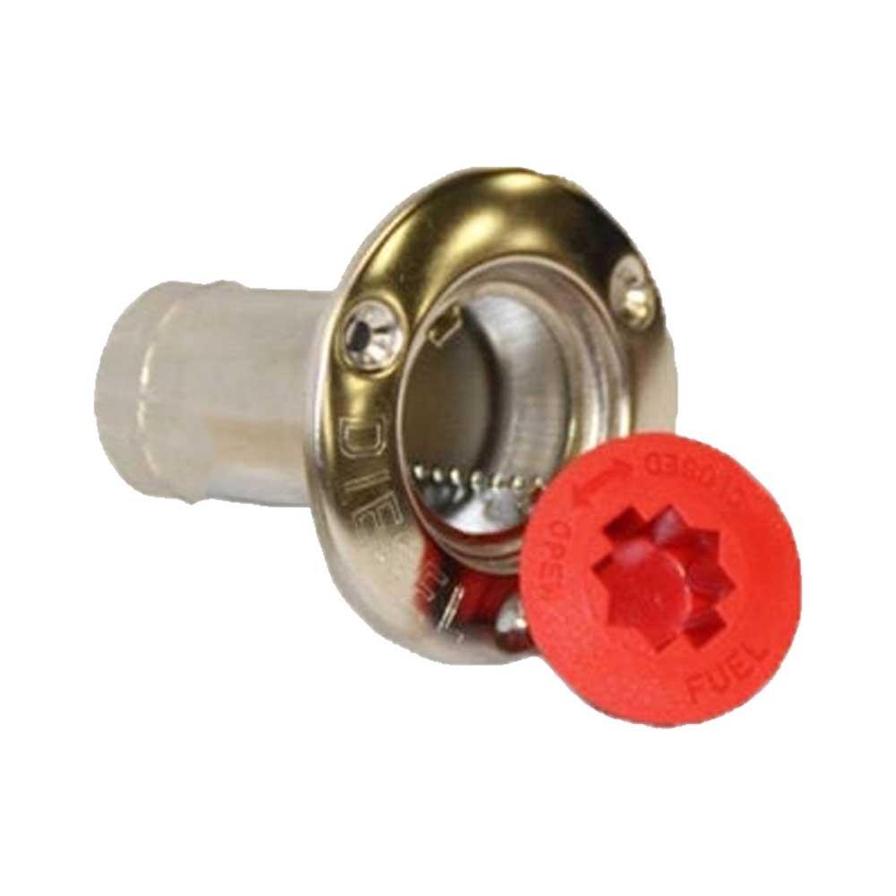 Stainless Steel Deck Filler - Red Cap - Diesel