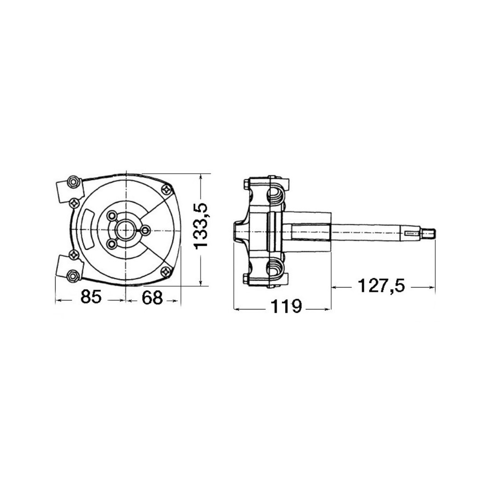 T71FC Rotary Steering Helm
