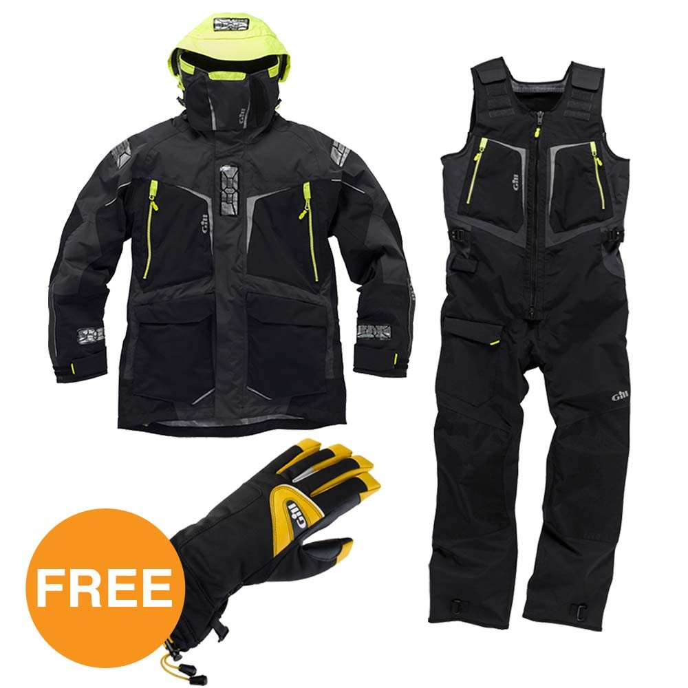 OS1 Graphite Suit & Helmsman Gloves