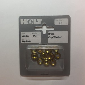 Brass Cup Washers 6g