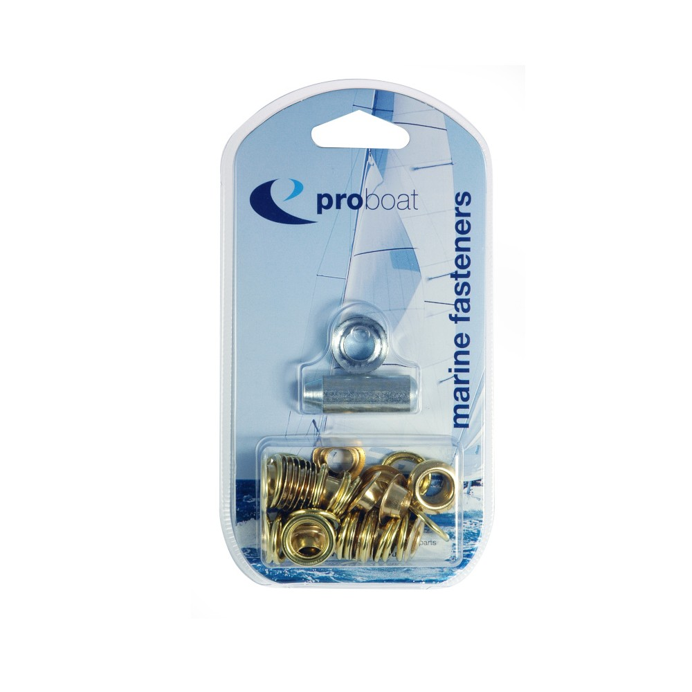 Brass Eyelet Kit x 50 - 5.16mm (BP18)