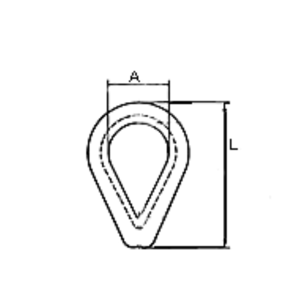 Galvanised Thimble 20mm (1pk)