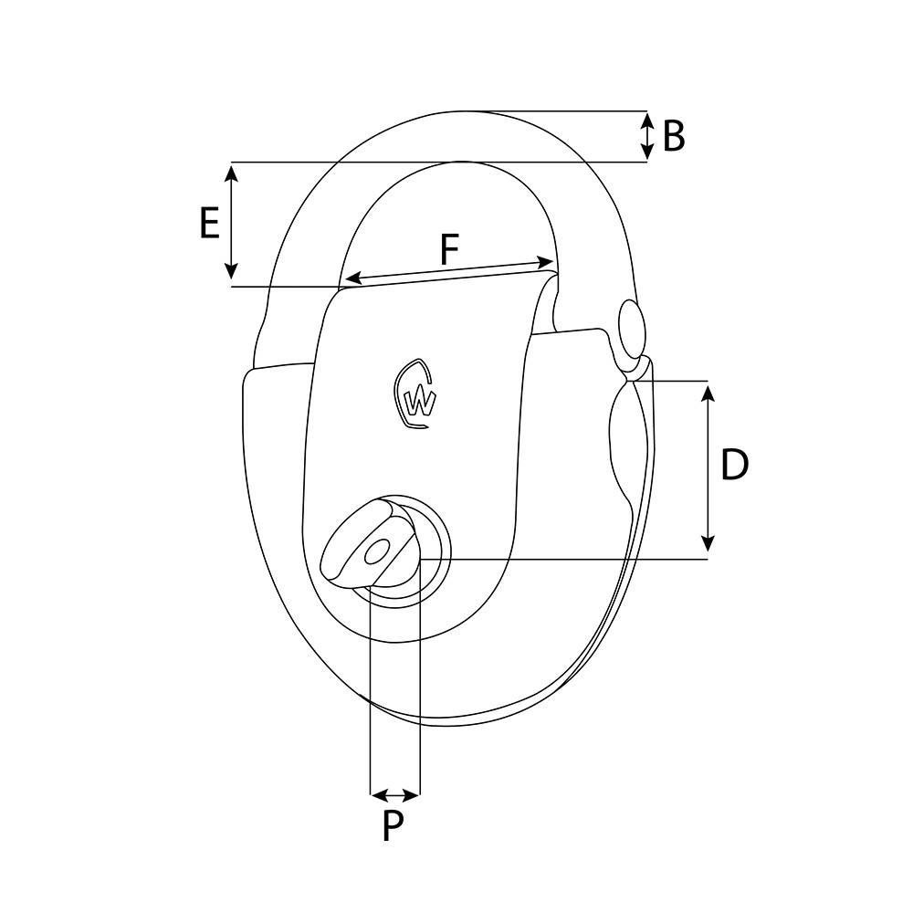 Toe Rail Pad Eye - Standard 12-15mm