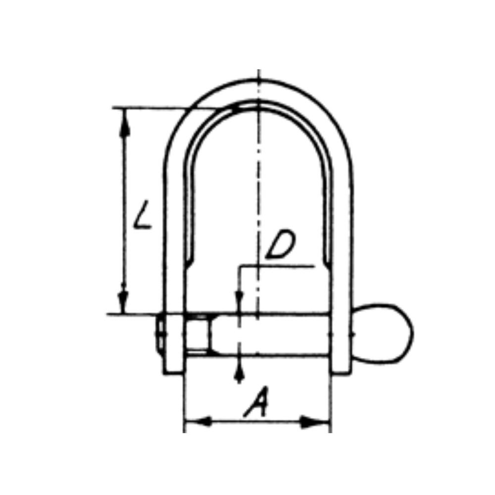 Stainless Steel Long Strip Dee 6mm Shackle (1pk)