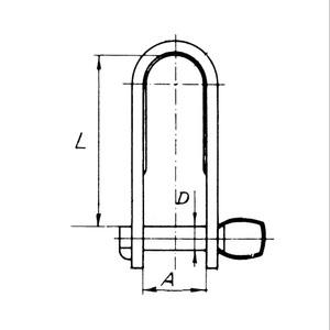 6x15mm Stainless Steel Key Pin Strip Dee Shackle