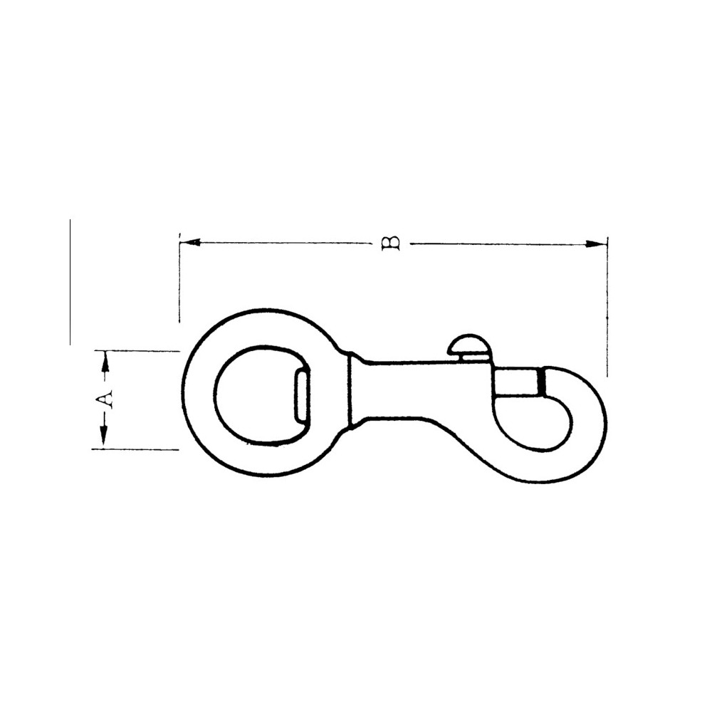 80mm Sgle Snap Hook Bronze