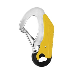 Double Safety Hook 115mm Yellow