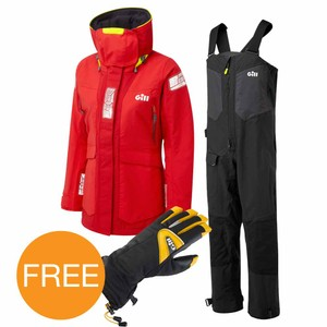 OS2 Red Offshore Suit & Helmsman Gloves