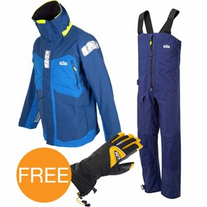 OS2 Blue Offshore Suit + Helmsman Gloves