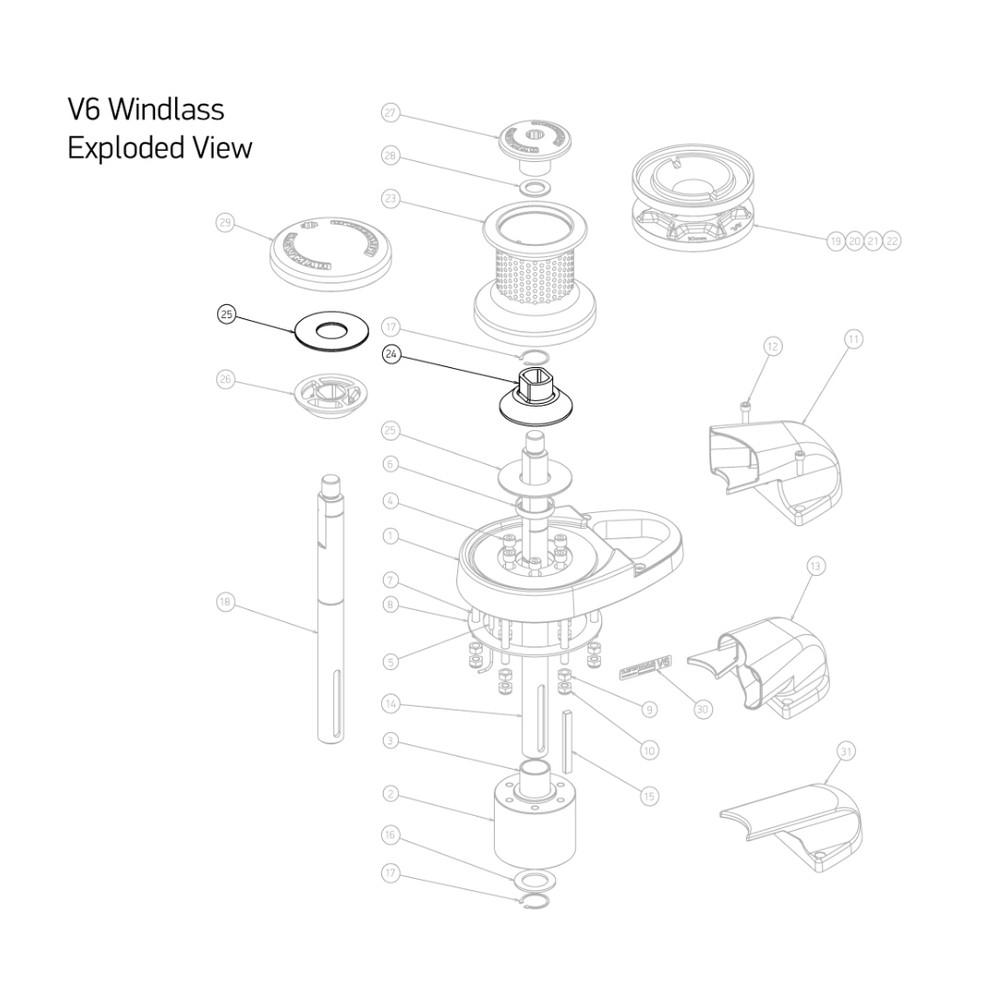 V6 Windlass Spares