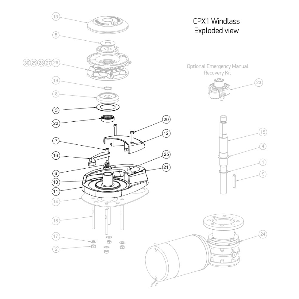 CPX Windlass Spares