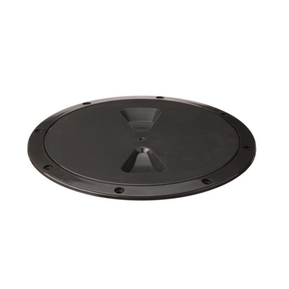 """Inspection Hatch 8"""" Black with O-Ring Seal"""