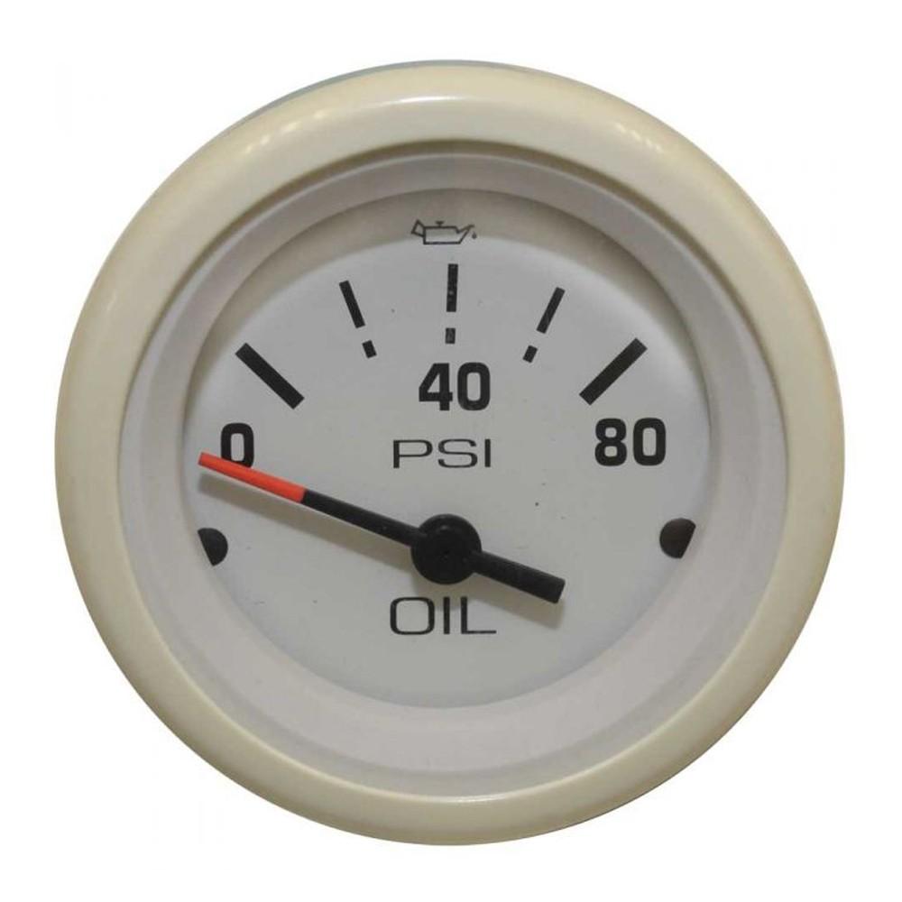 White Gauge Oil Pressure