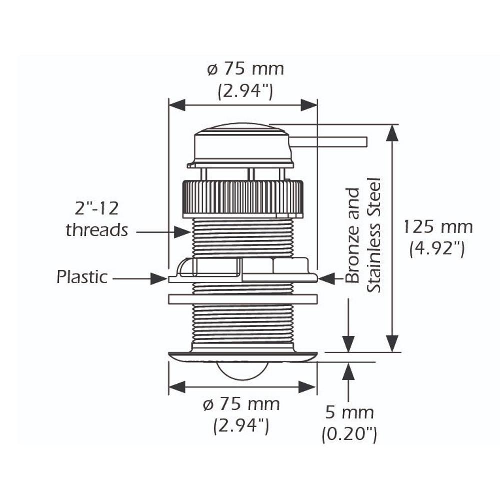 DST810 Plastic 235KHz NMEA 2000 Triducer