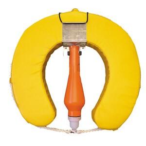 Horseshoe Lifebuoy Set With Flashing Light Yellow