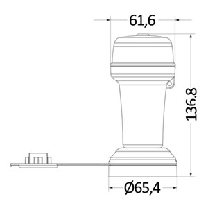 Battery Navigation Light 360° All Round White