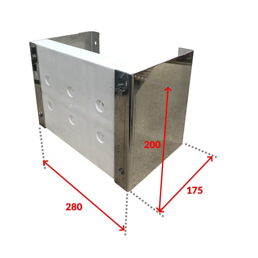 Fixed Stainless Steel & Plastic Outboard Motor Bracket