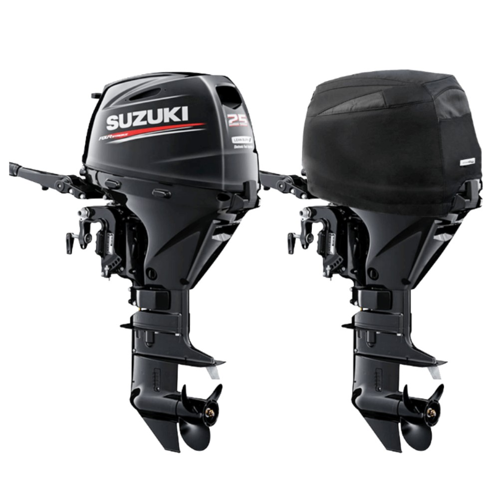 Fitted Outboard Motor Cover - Suzuki DF25A-30hp 3 Cyl 4-Stroke 2014 on