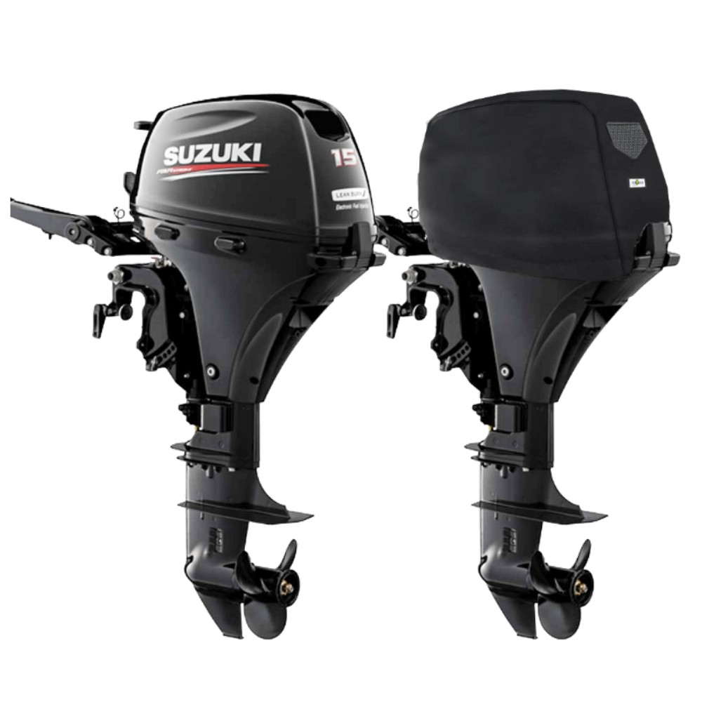 Fitted Outboard Motor Cover - Suzuki DF15-20Ahp 2 Cyl 4-Stroke 327cc 2012 on