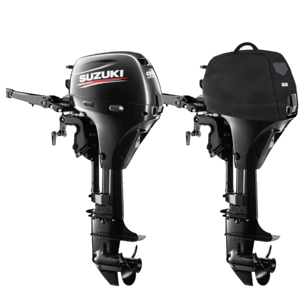 Fitted Outboard Motor Cover - Suzuki DF8-9.9Ahp 1 Cyl 4-Stroke 208cc 2010 on