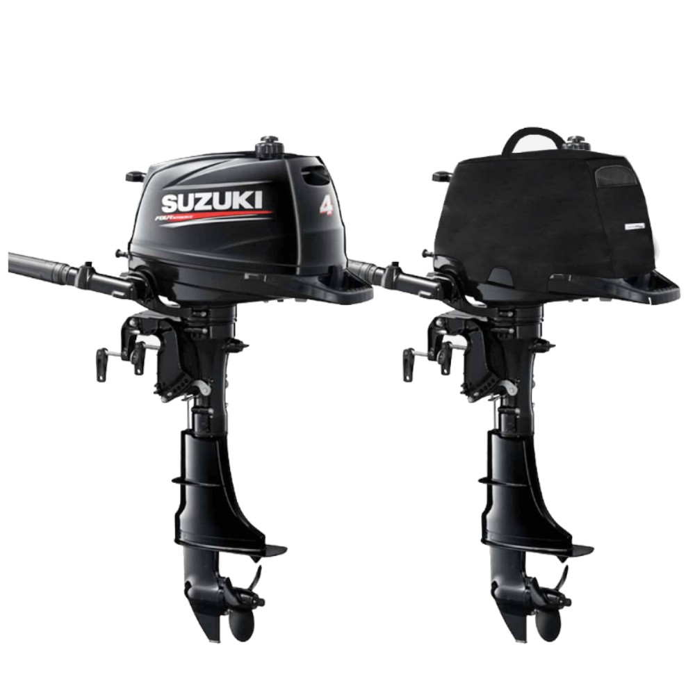 Fitted Outboard Motor Cover - Suzuki DF4-6Ahp 1 Cyl 4-Stroke 138cc 2002 on