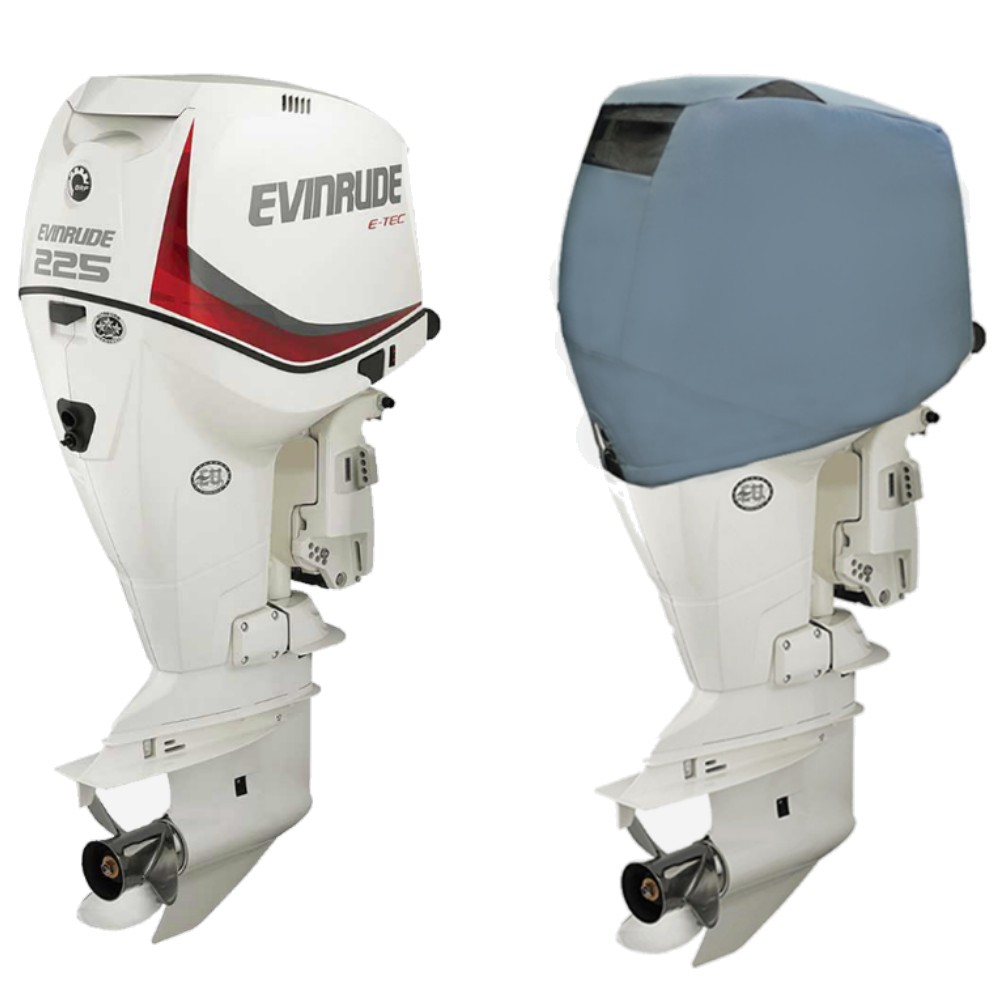Fitted Outboard Motor Cover - Evinrude 225-300hp E-TEC-V6 3.3L 2005-2016