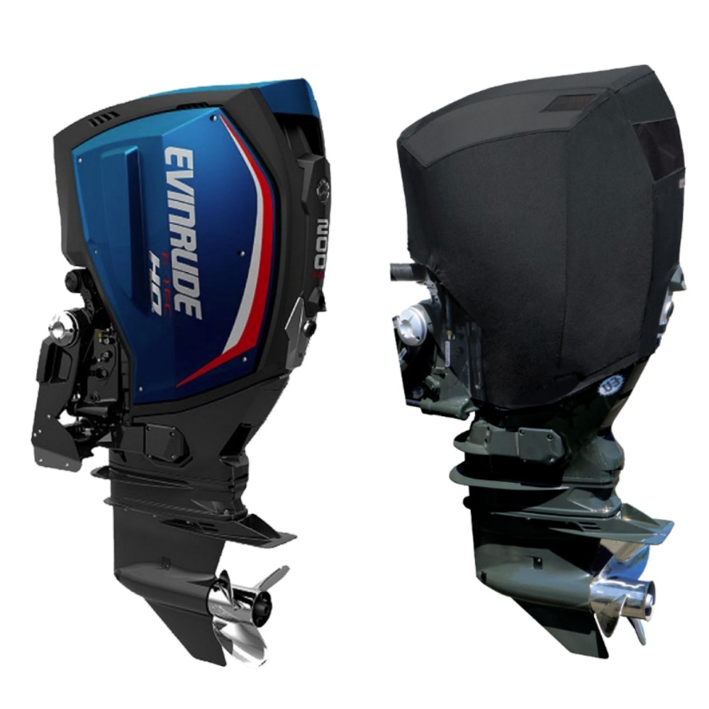 Fitted Outboard Motor Cover - Evinrude 150-200hp E-TEC-V6 2.6L 2004 on