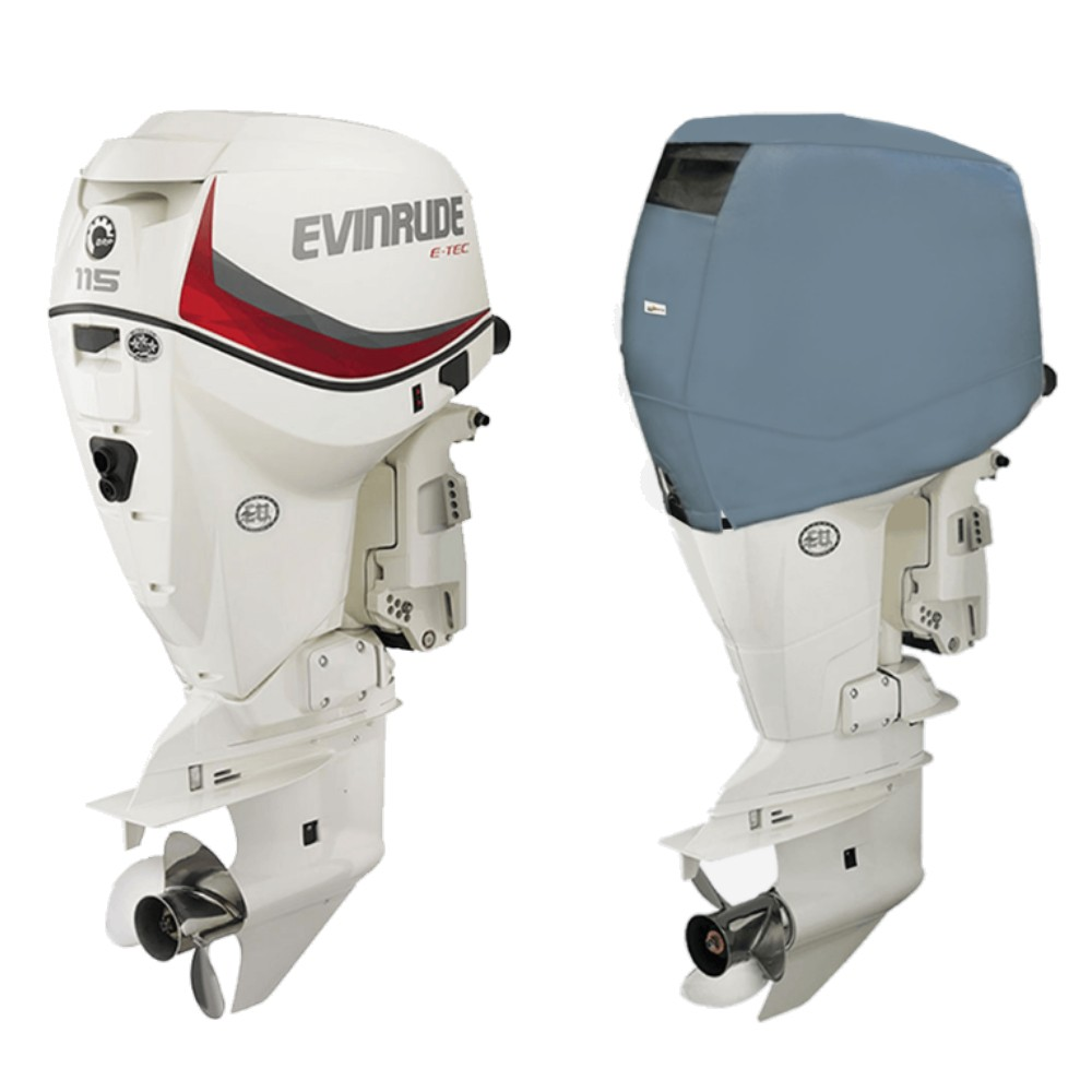 Fitted Outboard Motor Cover - Evinrude 90-130hp E-TEC-V4 1.7L 2005 on