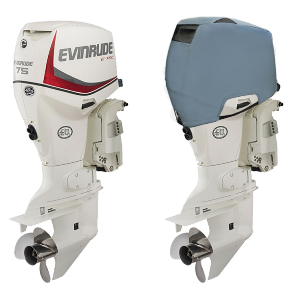 Fitted Outboard Motor Cover - Evinrude 60-90hp 3 Cyl E-TEC 1.3L 2003 on