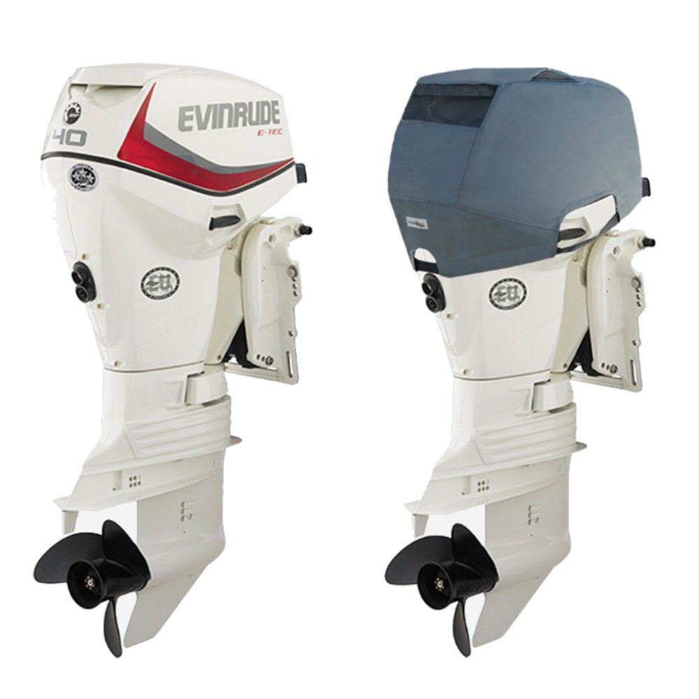 Fitted Outboard Motor Cover - Evinrude 40-60hp 2 Cyl E-TEC 2003 on
