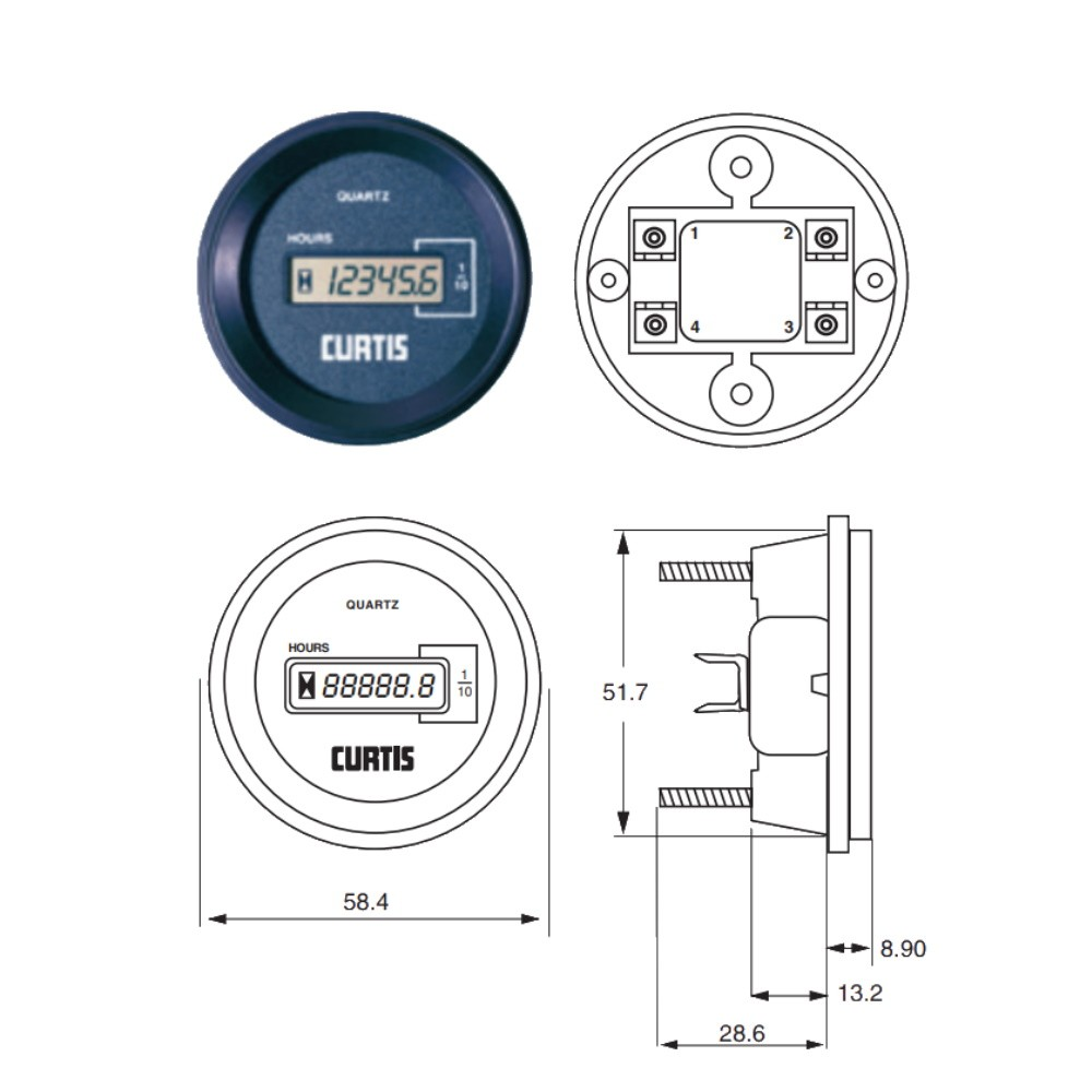 Electronic Engine Hour Meter