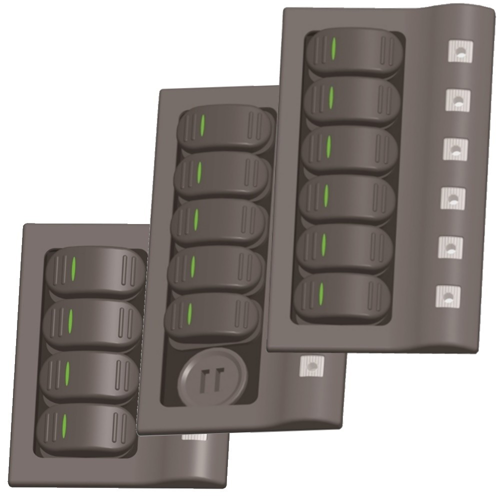 Rocker Switch Panel with Breakers