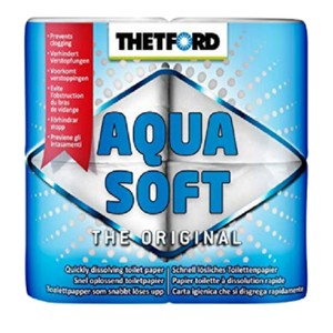 Aqua Soft Toilet Roll - Pack of 4