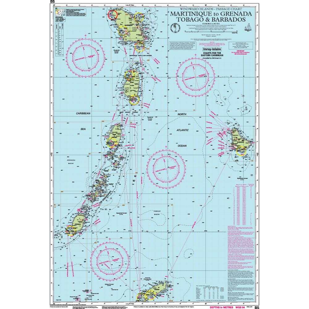 B5 Martinique to Tobago and Barbados Passage Chart