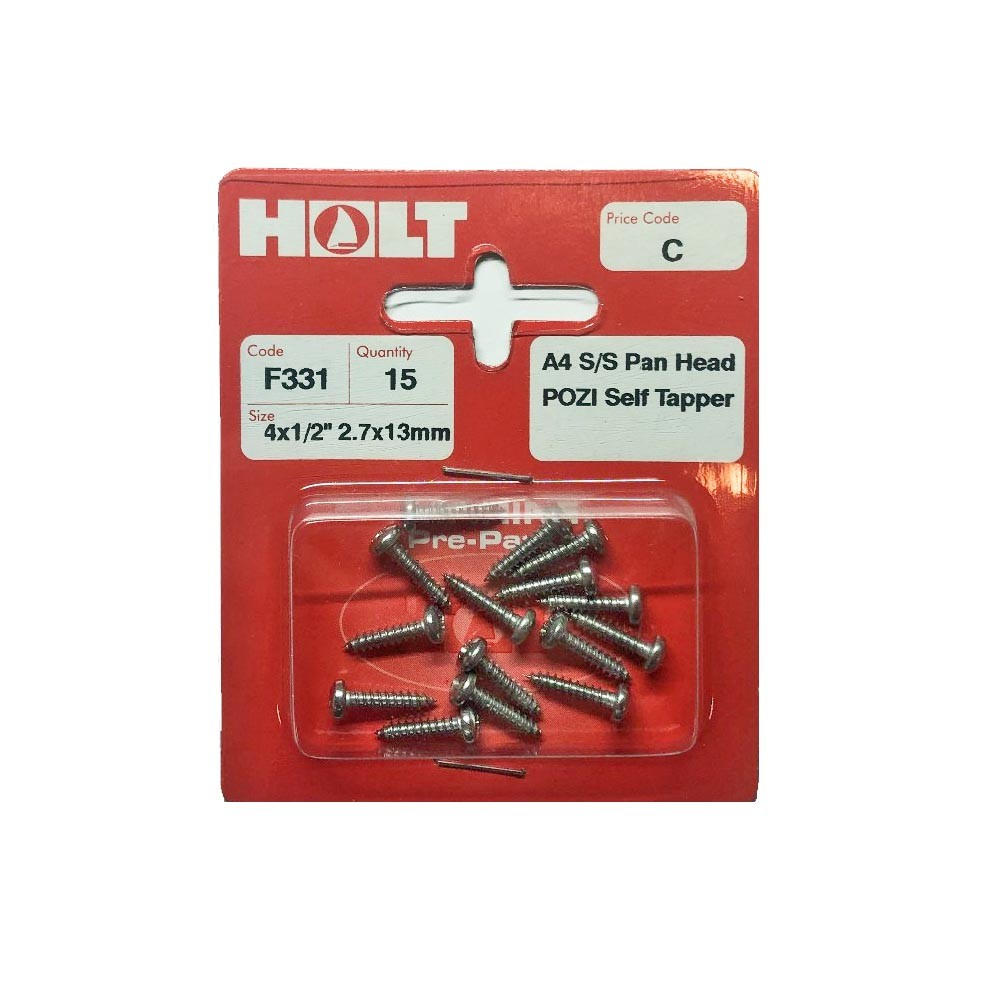 A4 Pan Head Pozi Self Tapping Screw 4x1/2
